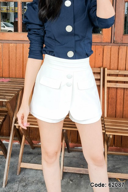 62087 - Lyvia White Culottes
