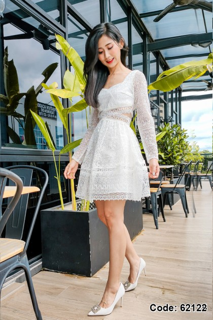 62122 - Lindsay Embroidery Lace Dress