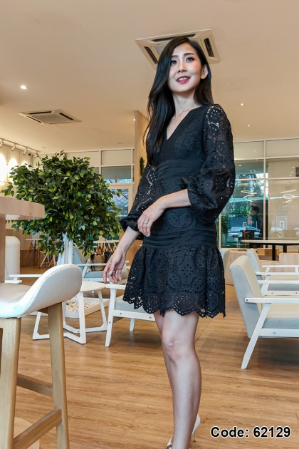 62129 – Norvin Embroidery Lace Dress