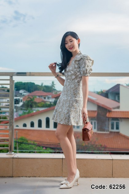 62256 - Alessa Embriodery Lace Dress